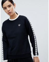 Fred Perry - Taped Sweatshirt - Lyst