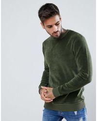 ASOS - Muscle Velour Sweatshirt - Lyst
