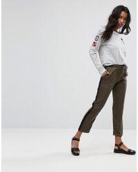 Mango - Sport Stripe Trousers - Lyst