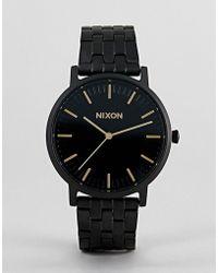 Nixon - A1057 Porter Bracelet Watch In Black 40mm - Lyst