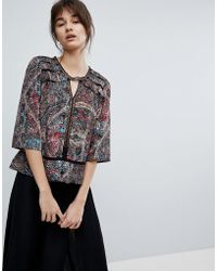 d.RA - Dakota Printed Blouse - Lyst