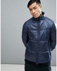 66°North - Vatnajokull Primaloft Collar Jacket In Navy - Lyst