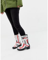 HUNTER - Exploded Logo Original Short Wellington Boots - Lyst