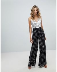 Missguided | Polka Dot Jumpsuit | Lyst