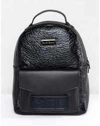 Claudia Canova - Croc Effect Backpack - Lyst