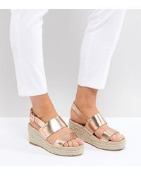 ASOS - Toto Wide Fit Espadrille Wedges - Lyst