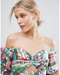 ASOS - Abstract Open Shape Earrings - Lyst