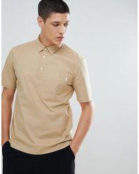 For Love & Lemons - Regular Fit Shirt With Pocket In Stone - Lyst