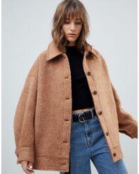 Weekday - Oversized Wool Trucker Jacket - Lyst