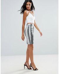 Girls On Film - Snake Print Skirt - Lyst
