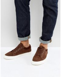 ASOS - Trainers In Brown With Cuff - Lyst