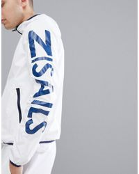 North Sails - Bret Windbreaker With Sleeve Logo In White - Lyst
