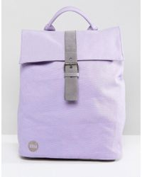 Mi-Pac - Canvas Fold Top Backpack In Lilac - Lyst