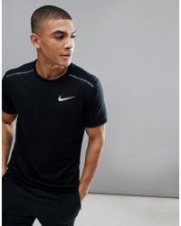 Nike - Breathe Tailwind T-shirt In Black 892813-010 - Lyst