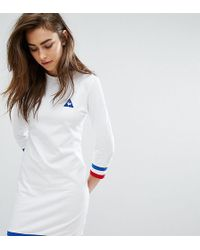 Le Coq Sportif - Exclusive To Asos Sweat Dress With Tricolor Tipping - Lyst