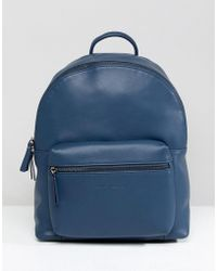 Smith & Canova - Leather Backpack With Contrast Straps - Lyst
