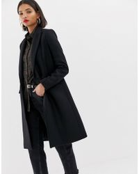 Mango - Double Button Front Tailored Coat In Black - Lyst