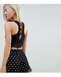 ASOS - Bralet With Lace Hem And Strappy Back - Lyst