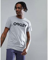 Oakley | 50-mark Ii Slim T-shirt Large Front Logo In Grey Marl | Lyst