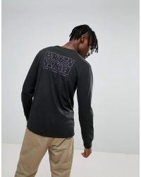 Brixton - Vitus Long Sleeve T-shirt With Back Print - Lyst
