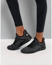 PUMA - Running Ignite Flash Evoknit Satin Trainers - Lyst