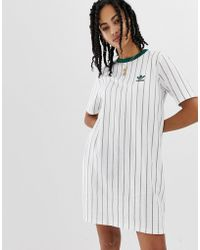 8e8a1491fb72 adidas Originals X Farm Three Stripe T-shirt Dress In Pineapple ...