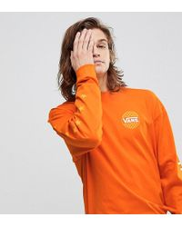 Vans - Oversized Long Sleeve T-shirt In Orange Exclusive To Asos - Lyst