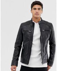 Barneys Originals - Barney's Original Real Leather 4 Pocket Biker Jacket - Lyst