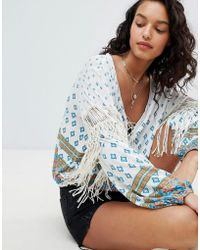Free People - Macra Maze Me Printed Blouse - Lyst