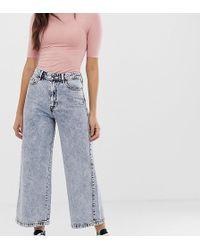 Falda pantalón vaquera en lavado ácido STR de Stradivarius asos gris Jeans