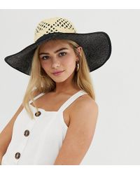Miss Selfridge - Sun Hat With Contrast Underlay In Nude - Lyst