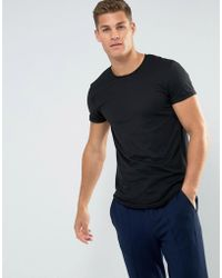 Esprit - Longline T-shirt With Raw Edges - Lyst