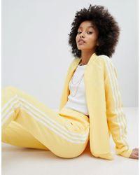 adidas Originals - Originals Adicolor Three Stripe Track Jacket In Yellow - Lyst