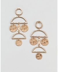 Pieces - Disc Earrings - Lyst