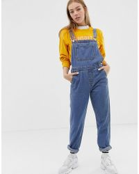 ONLY - Denim Dungaree - Lyst