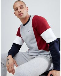 Nicce London - Nicce Sweatshirt In Gray With Contrasting Panels - Lyst