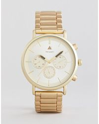 ASOS - Plus Bracelet Watch In Brushed Gold - Lyst