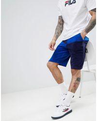 c04802e756511 Lyst - Fila Black Line Baseball Mesh Shorts In Navy in Blue for Men