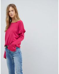 Vila - Ruffle Jumper With Fluted Sleeve - Lyst