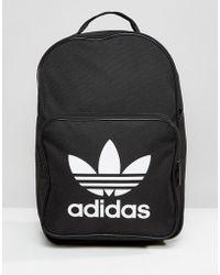 adidas Originals - Originals Trefoil Logo Backpack In Black - Lyst