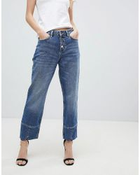 Mango - Straight Leg Crop Jean - Lyst