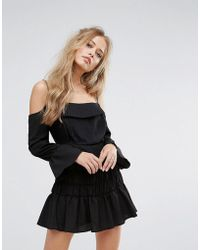 Foxiedox - Tiered Cold Shoulder Dress - Lyst