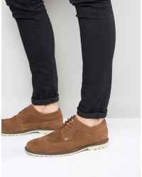 Original Penguin - Brogues In Tan Suede - Lyst