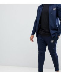 SIKSILK - Joggers In Navy Exclusive To Asos - Lyst