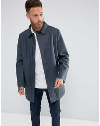 HUNTER - Gummierter Mantel in Marineblau - Lyst