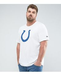 KTZ - Plus Nfl Indianapolis Colts T-shirt In White - Lyst
