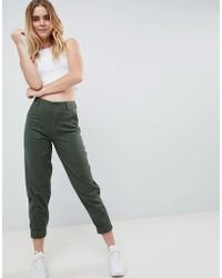 ASOS - Design Slim Leg Combat Trousers In Khaki - Lyst