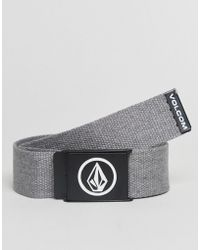 Volcom - Webbing Belt In Grey - Lyst