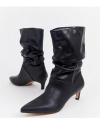 Stradivarius - Point Toe Slouch Boot - Lyst