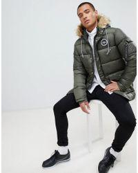 Hype - Puffer Parka Jacket In Khaki - Lyst
